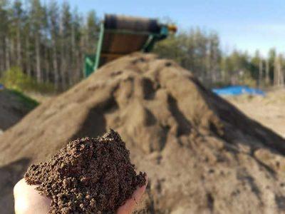 Topsoil Screening Creates A Beautiful Texture