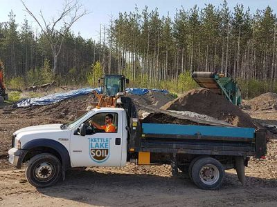 Kettle Lake Topsoil Delivery Truck